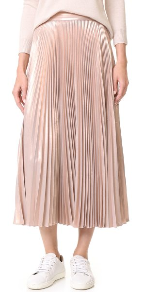 A.L.C. bobby skirt in light rose gold - This polished A.L.C. skirt has a metallic finish and...