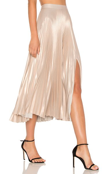A.L.C. Bobby Skirt in light rose gold - Rose renderings create the soft yet standout aesthetic...