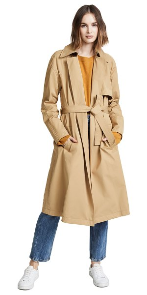 A.L.C. bridges coat in khaki - Fabric: Twill Rain flap Contrast trim at lining Long...