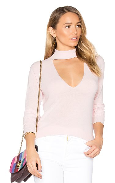 A.L.C. Caro Sweater in petal pink - Plunge head first into fall fashion with the A.L.C. Caro...