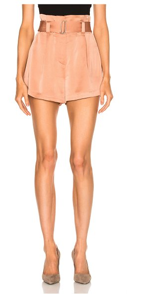 A.L.C. Deliah Short in rose - 58% viscose 42% acetate. Made in China. Dry clean only....