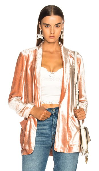 A.L.C. Ford Jacket in pink - Self: 84% viscose 16% silk - Lining: 100% silk.  Made in...
