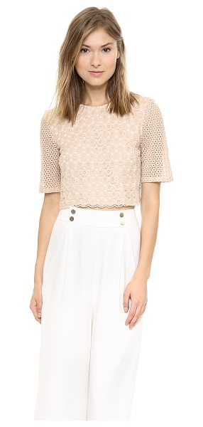 A.L.C. Fremont top in nude - Crocheted circles compose this delicate A.L.C. top, and...