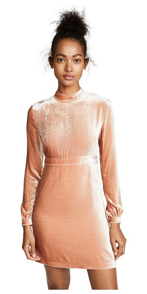 A.L.C. gemma dress in rose - A luxe velvet A.L.C. dress featuring a mock neckline and...