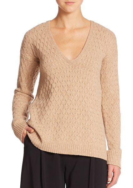 A.L.C. Harvard cabled sweater in camel - Beautiful baby cables add classic appeal to this cozy...
