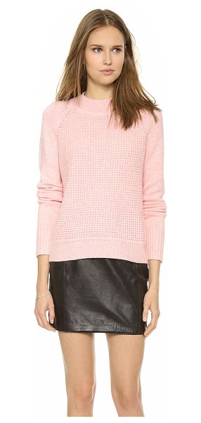 A.L.C. Jackson sweater in rose pink - A raglan A.L.C. sweater in a mix of luxe, soft knits....