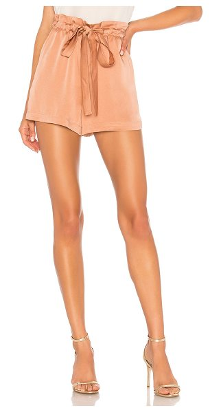 """A.L.C. Jude Short in rose - """"Silk blend. Dry clean only. Elasticized drawstring..."""