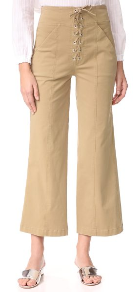 A.L.C. kyt pants in khaki - These high-waisted A.L.C. pants are cut in a wide-leg...