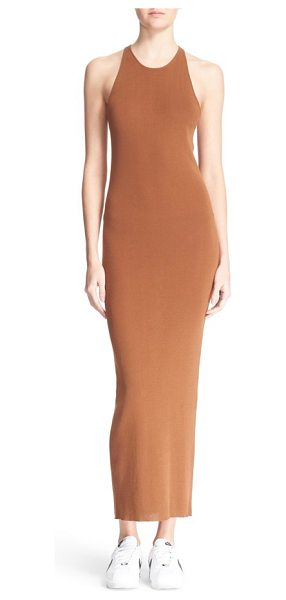 A.L.C. marc body-con maxi dress in sienna - Classic in style and silhouette, this curve-hugging,...
