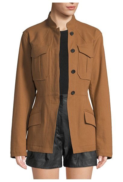 A.L.C. Milo Belted Button-Front Jacket in brown