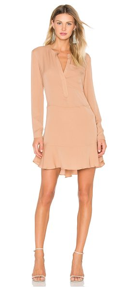 A.L.C. Montana Dress in tan - Poly blend. Dry clean only. Partially lined. Front...