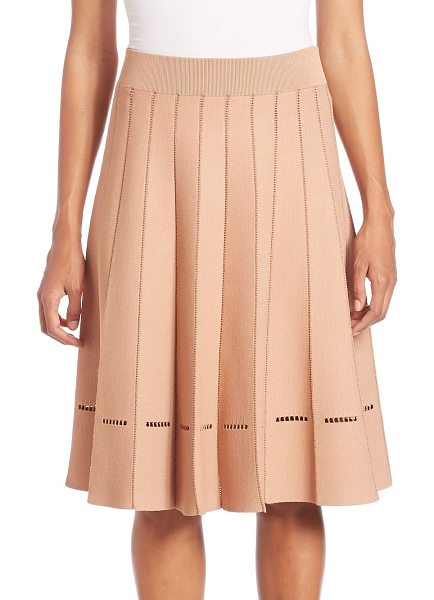 A.L.C. nicole pleated skirt in nude - Feminine pleated skirt with stitch detail at hem. Banded...