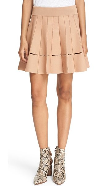 A.L.C. 'mari' pleated knit skirt in nude - Openwork vertical seams highlight the playful pleats of...