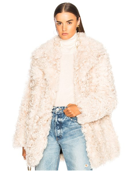 A.L.C. Stone Fur Coat in neutrals - Self: 100% real dyed lamb shearling - Lining: 100%...
