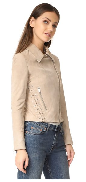 A.L.C. syd jacket - Lace-up sides put a unique spin on the classic...