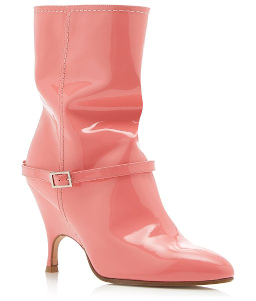 ALCHIMIA DI BALLIN Kari Slouch Bootie in pink - These *Alchimia di Ballin* boots are rendered in patent...