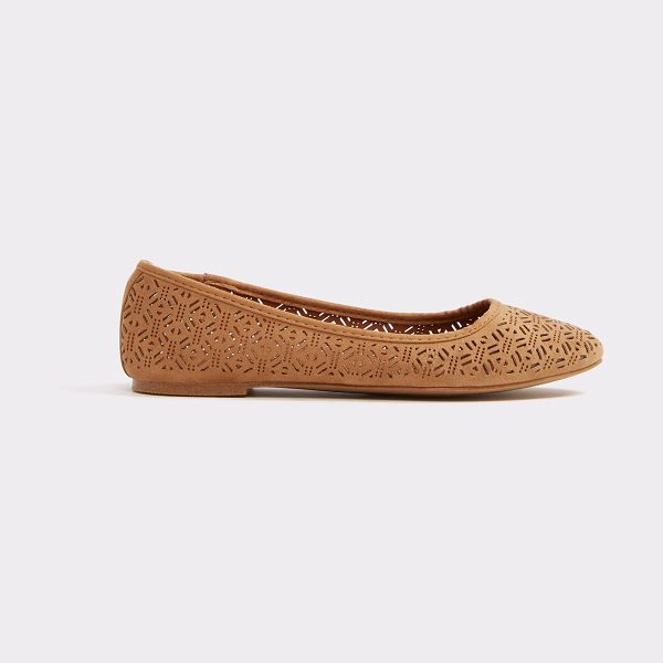 "ALDO Aavia in camel - What we mean by ""twinkle toes"", a bedazzled ballerina..."