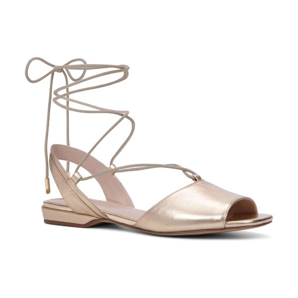 ALDO Aboing in gold - A fresh take on the everyday Flat sole. This boho staple...