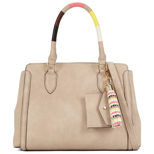 ALDO Acawien in taupe - This satchel livens up its classic silhouette with an...