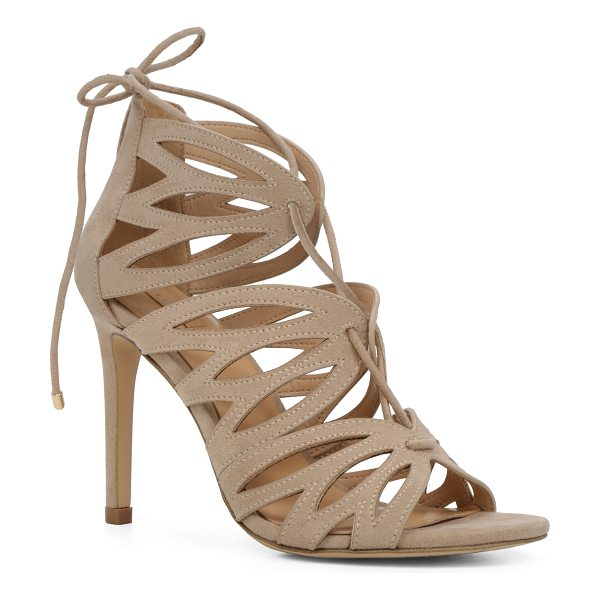 ALDO Adalissa in bone - A caged lace-up sandal rises to perfection with suede...
