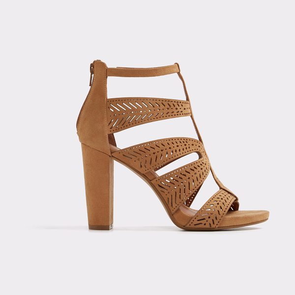 ALDO Adraniel in camel - Mini studs and cutout suede-like straps play with...