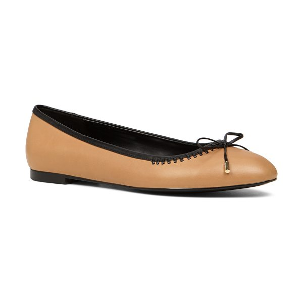 ALDO Aessa flats in cognac - A slip-on flat with elegant stitch detailing and a sweet...