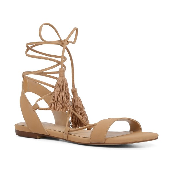 ALDO Agata in cognac - Ankle-wrapping tassel ties add a playful wink to a...