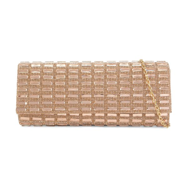 ALDO Alcoa in light pink - Roaring '20s-inspired clutch, sparkling in metallic...