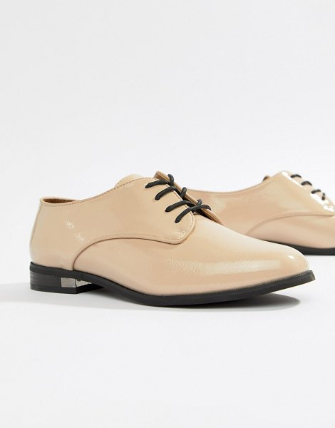 ALDO flat brogue shoe in bone