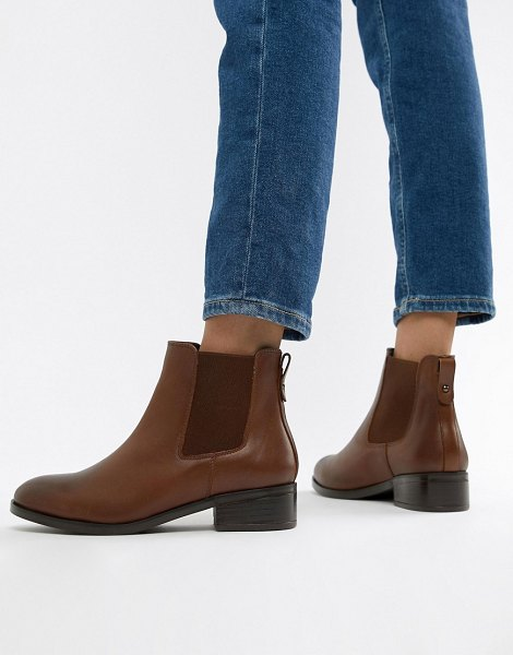 ALDO leather chelsea boots-tan in tan