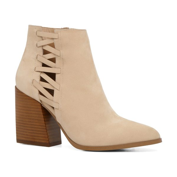 ALDO Alenama in bone - That bootie though. Cutout panels and a high stacked...