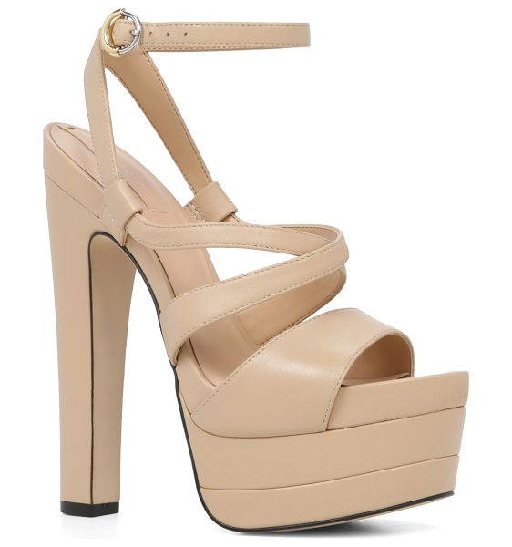 ALDO Alesen in bone - High drama: our statement sandal stands tall with a bold...
