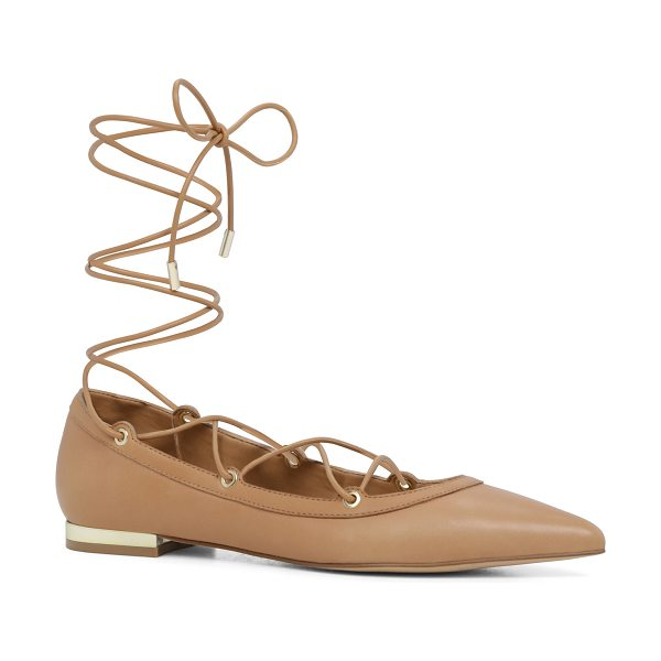 ALDO Alize in cognac - The basic flat made modern with ankle reaching...