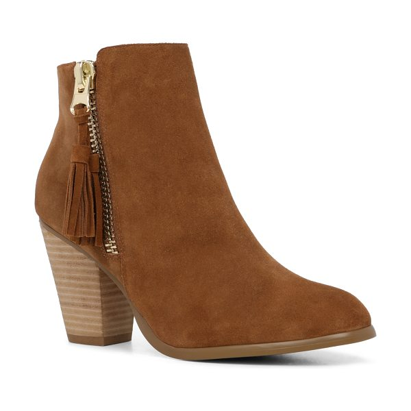 ALDO Asoewiel in cognac - This tassel-zip, ankle-skimming bootie is an AM-to-PM...