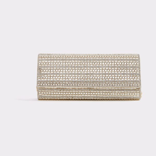 ALDO Bascemi in champagne - Twinkle, twinkle-this dazzling baguette clutch is pure...