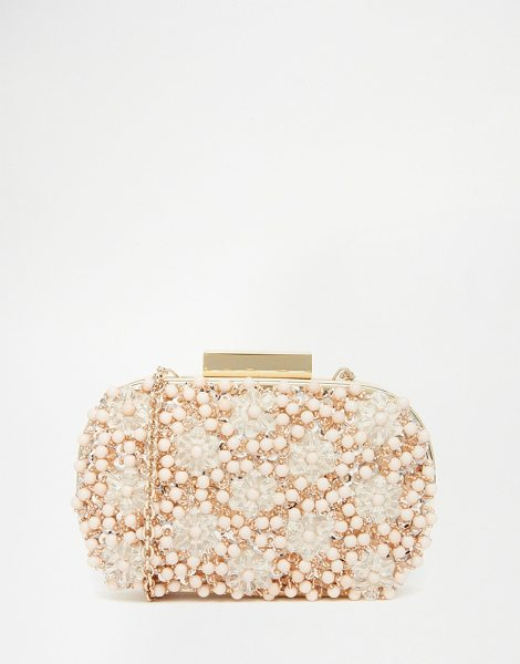 ALDO Beaded Box Clutch in beige - Clutch bag by ALDO, Embellished outer, Fully lined,...