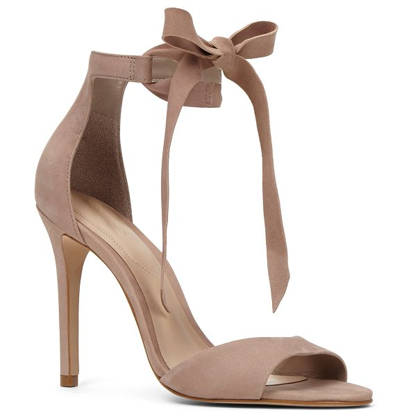 ALDO Belidda in beige - This stylish T-strap sandal features cutouts and a...