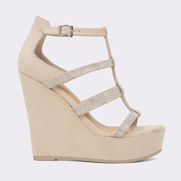 ALDO Belladonna in bone - Take your style to new heights in this shimmery T-strap...