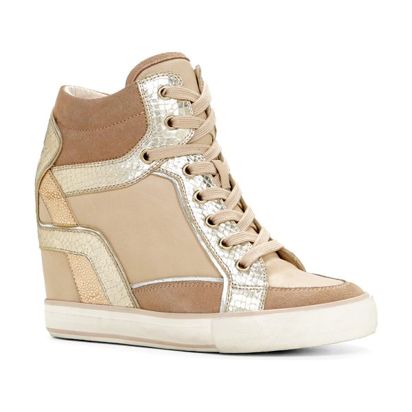 ALDO Bertilla in bone - These unique wedge sneakers will match your entire...