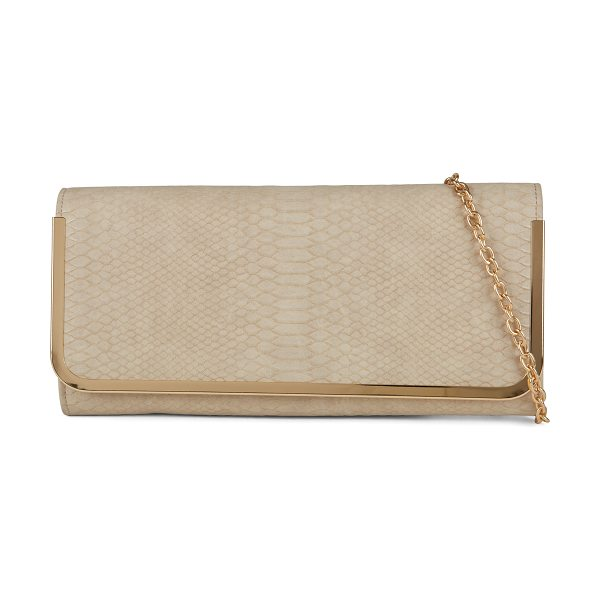 ALDO Bidwell clutch in bone - This classic clutch will add a shiny and trendy touch to...