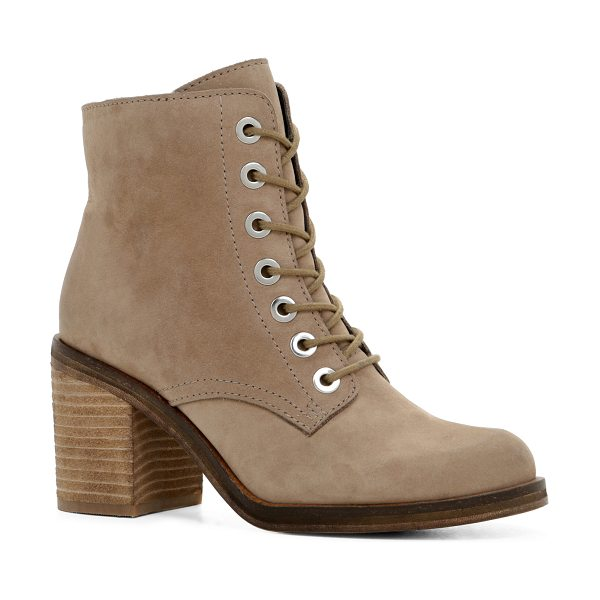 ALDO Buona in taupe - These edgy lace-up boots have as much character as you...