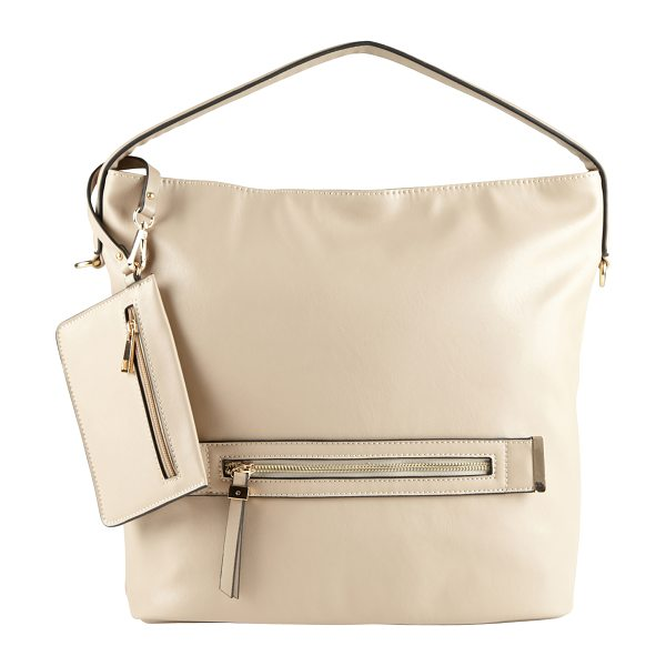 ALDO Burlingame shoulder bag in beige/taupe - This handbag will be a definite asset to your stylish...