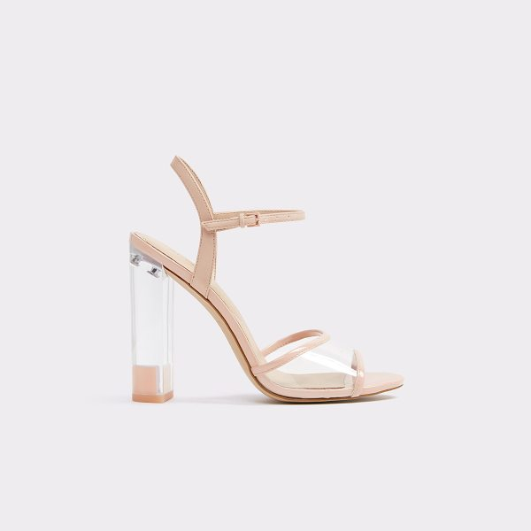 ALDO Camylla in light pink - Clearly, this stacked heel strappy sandal is trend...