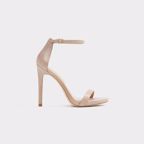 ALDO Caraa in bone - A timeless bare-all ankle-strap high heel sandal that...