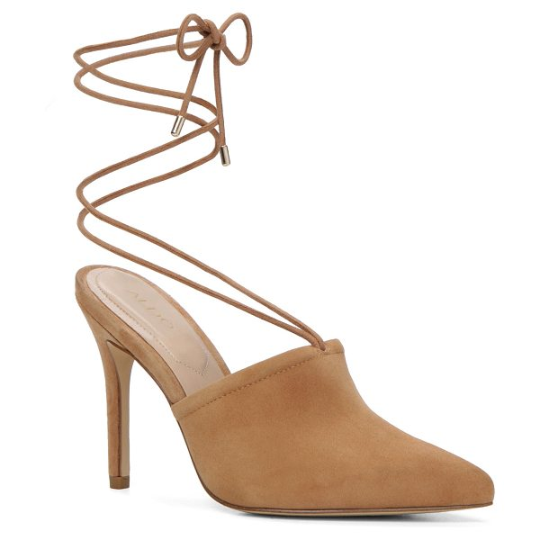 ALDO Carolina in natural - Mules go major. This sharp pair laces around the ankle...