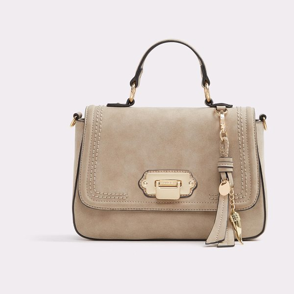 ALDO Carrulo in taupe - A sophisticated top-handle satchel ventures on new...