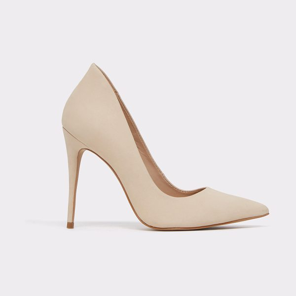 ALDO Cassedy in bone nubuck - The original stiletto reclaims its high and mighty...