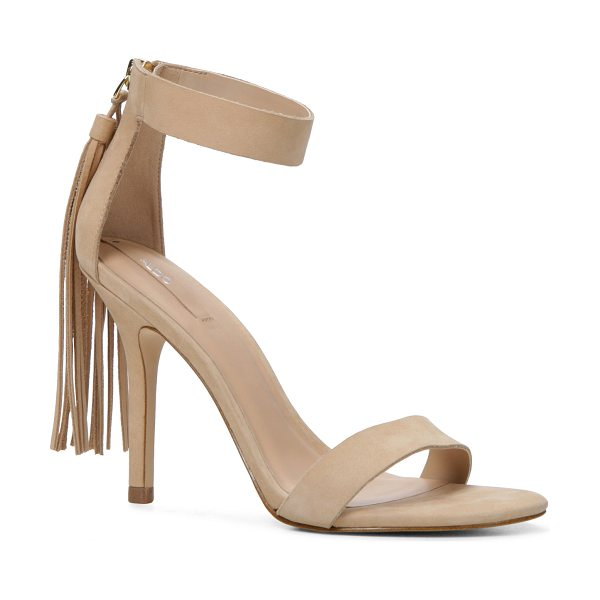 ALDO Celena sandals in bone nubuck - This stunning stand-out features a fringe cape,...