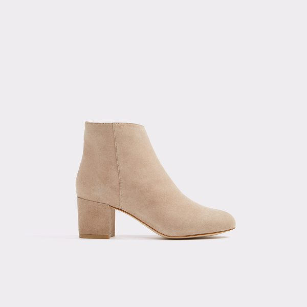 ALDO Ciredia in beige - All-over suede and block heel unite for a...