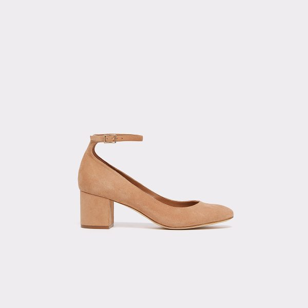 ALDO Clarisse in medium brown - Made of rich leather and suede, these chic ankle strap...